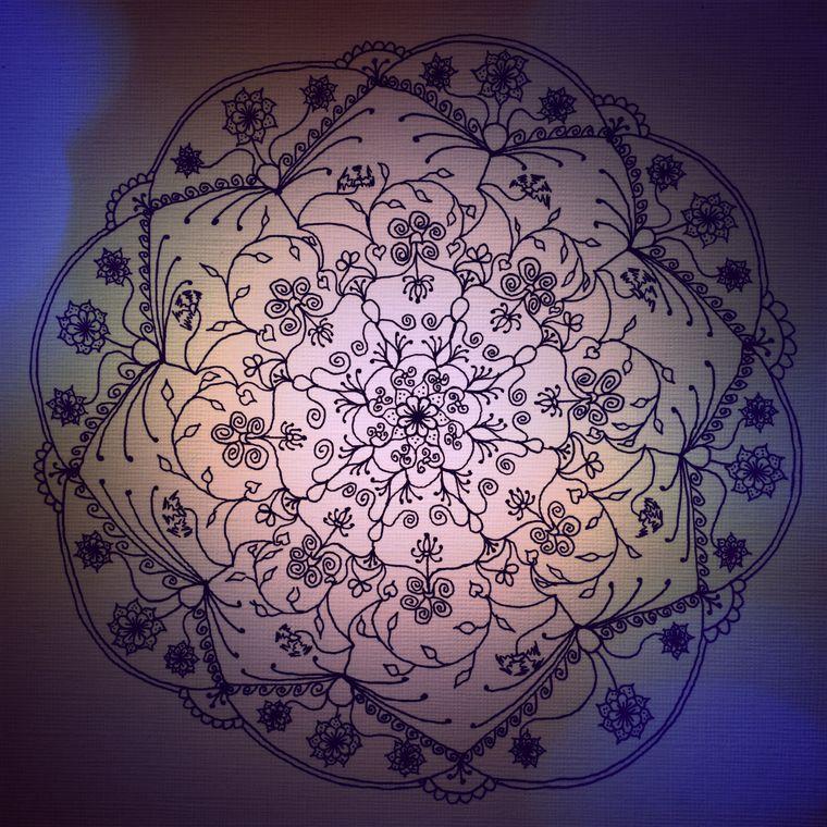 Harvest Moon Mandala (Dusk) Giclée Print