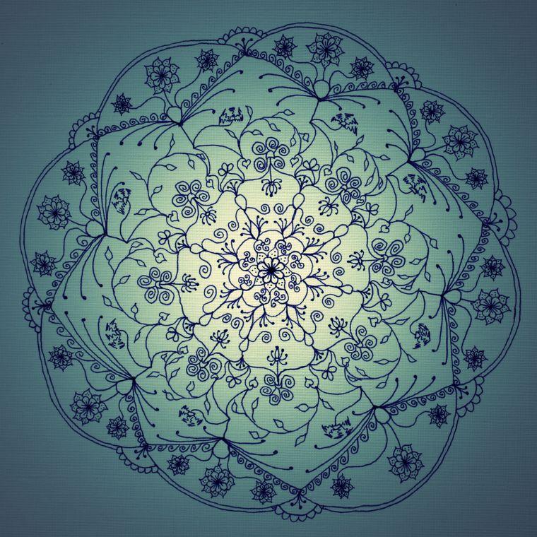 Harvest Moon Mandala (Twilight) Giclée Print