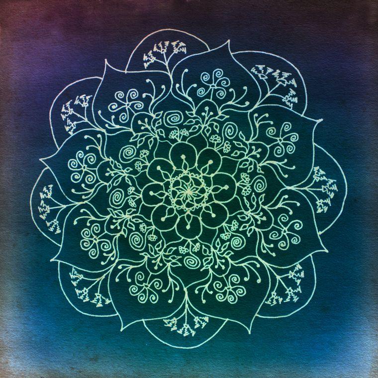 Blessed Rain Mandala Giclée Print