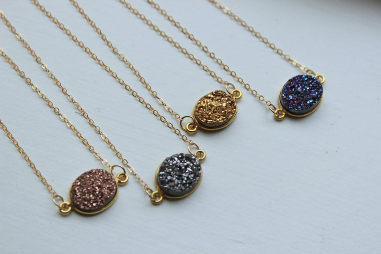Druzy Gold Bracelet, Druzy Bracelet, Gold Jewelry, Druzy Jewelry, Drusy Bracelet, Christmas Gift, Grey Druzy, Rose Gold Druzy, Purple