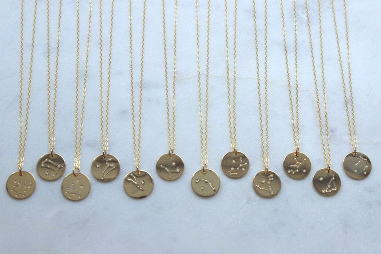 Gold Disk Necklace, Zodiac Necklace Gold, Gold Coin Choker, Gold Coin Necklace, Celestial Necklace, Coin Necklace Gold, Wanderlust Jewelry