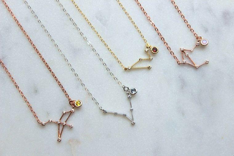 Birthstone Personalized Gift, Zodiac Necklace, Zodiac Jewelry, Birthstone Necklace, Bridesmaid Personalized Jewelry, Constellation Necklace