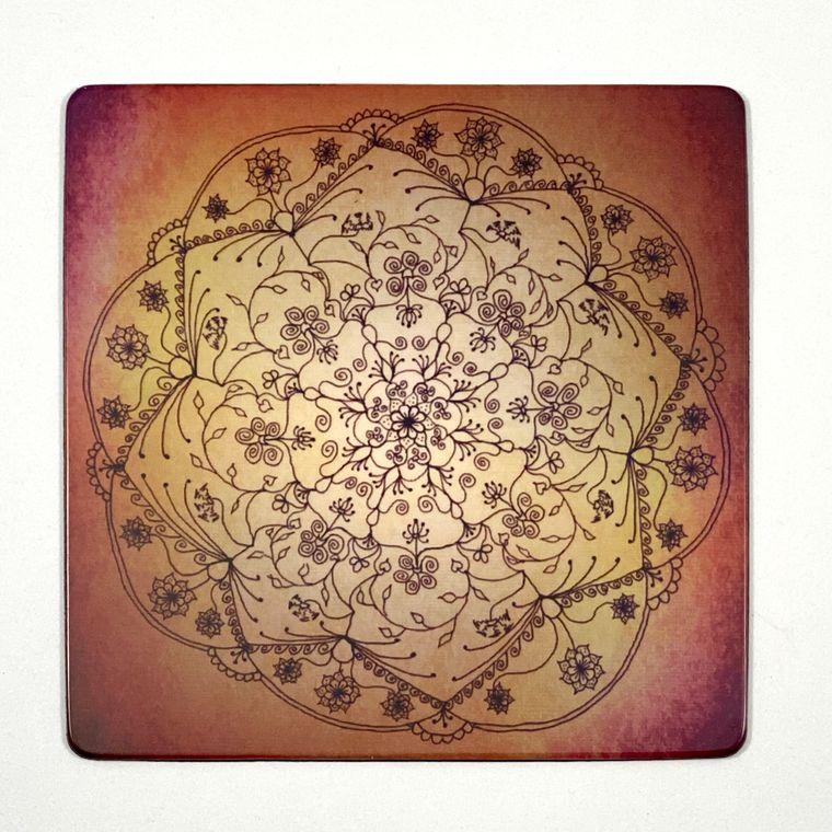 Harvest Moon Mandala (Dawn) Magnet - Square