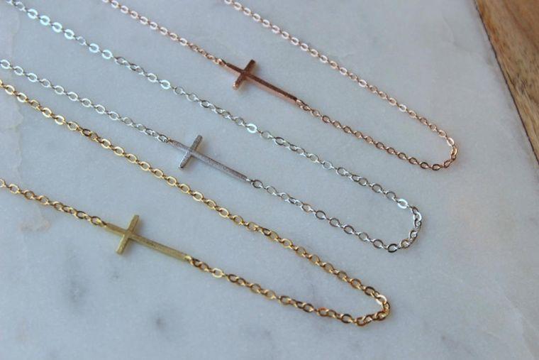 Sideways Cross Necklace, Sideways Cross, Sideway Cross Necklace, Sideways Necklace, Cross Jewelry, Jewelry Gift under 25, Cross Gift Ideas