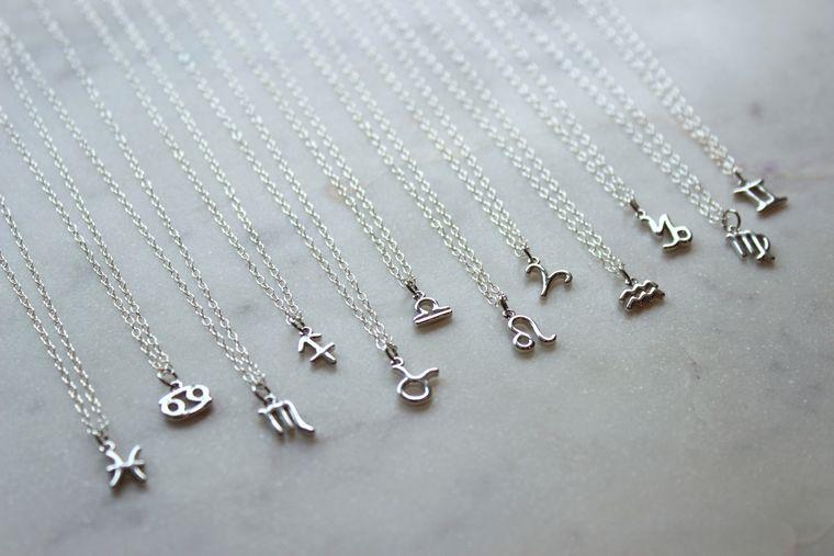 Silver Zodiac Necklace, Zodiac Jewelry, Constellation Necklace, Zodiac Sign Necklace, Astrology Necklace, Zodiac Personalized Jewelry