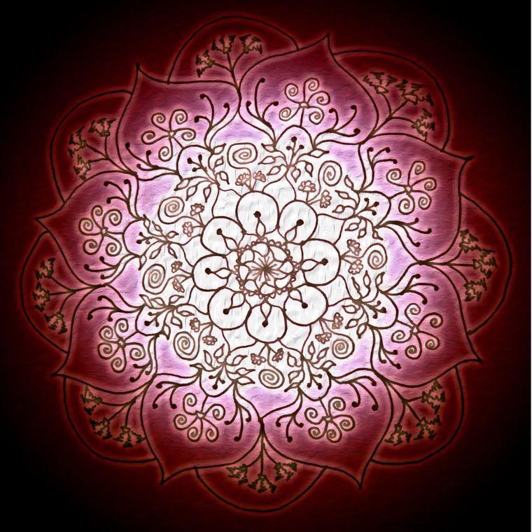 Blessed Rain Mandala (Embers) Giclée Print