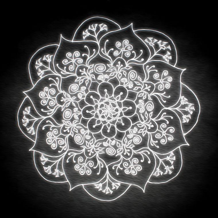 Blessed Rain Mandala (Moonlight) Giclée Print