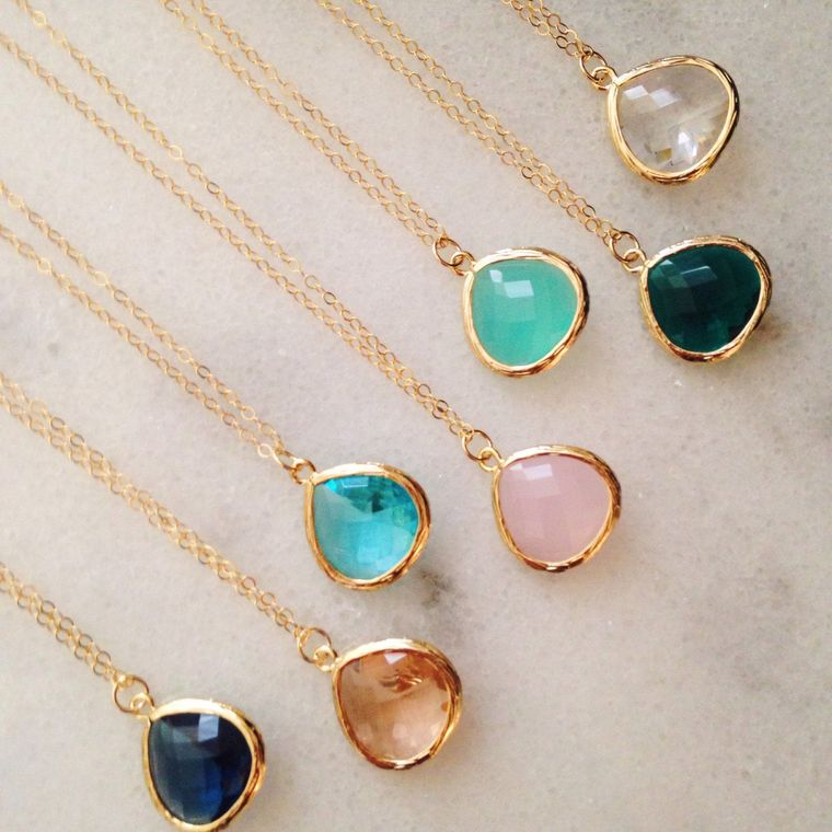 Large Teardrop Gold Necklaces - As seen on Instagram