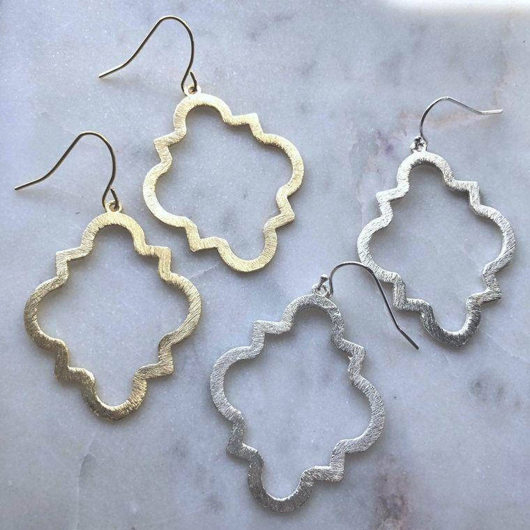 Gold Geometric Earrings, Silver Geometric Earrings, Gold Geometric Jewelry, Statement Earrings, Statement Jewelry