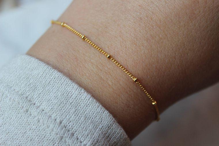 Gold Dew Drop Bracelet, Dew Drops, Dew Drops Bracelet, Xmas Jewelry Wife, Delicate Bracelet, Dainty Bracelet, Everyday Bracelet, Gift Idea