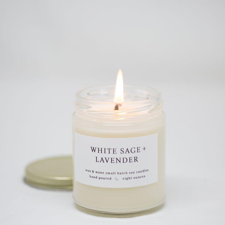 White Sage + Lavender 8 Oz Modern Soy Candle