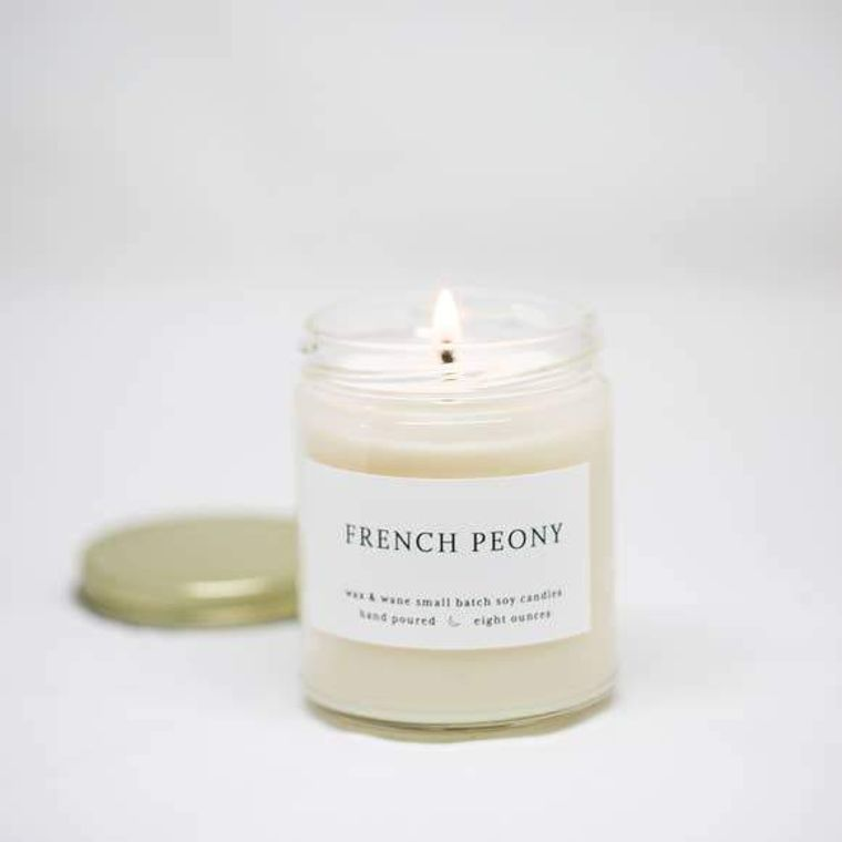French Peony Modern Soy Candle