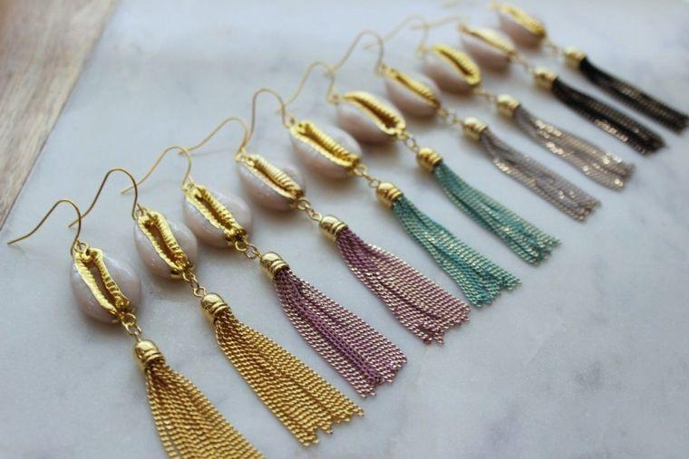 Sea Shell Earrings, Trendy Tassel Earrings, Cowrie Shell Earrings, Shell Jewelry, Beach Jewelry, 21st birthday gift, beach lover gift