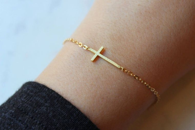 Gold Sideways Cross, Gold Sideway Cross, Sideways Cross, Trending Now, Cross Gift Ideas, Baptism Gold Cross, Dainty Cross, Relationship Gift