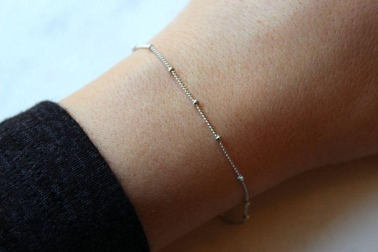 Silver Dew Drop Bracelet, Dew Drops, Dew Drops Bracelet, Xmas Jewelry Wife, Delicate Bracelet, Dainty Bracelet Everyday Bracelet Trendy 2017