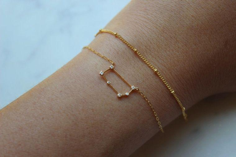Gemini, Gemini Bracelet, Gemini Jewelry, Trending Now, Zodiac Bracelet, Zodiac Jewelry, Constellation, Wanderlust, Zodiac Gift, Astrology