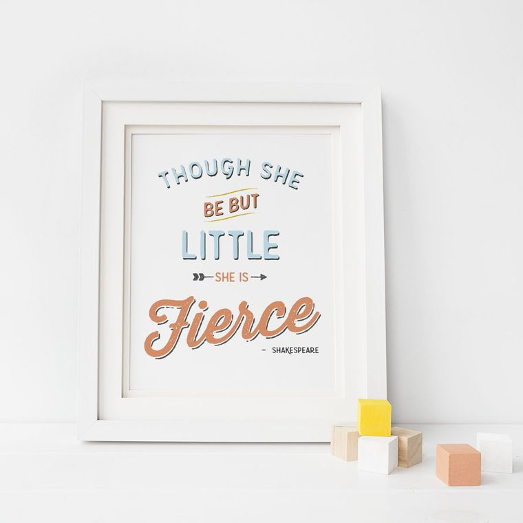 She is Fierce Print Art Print