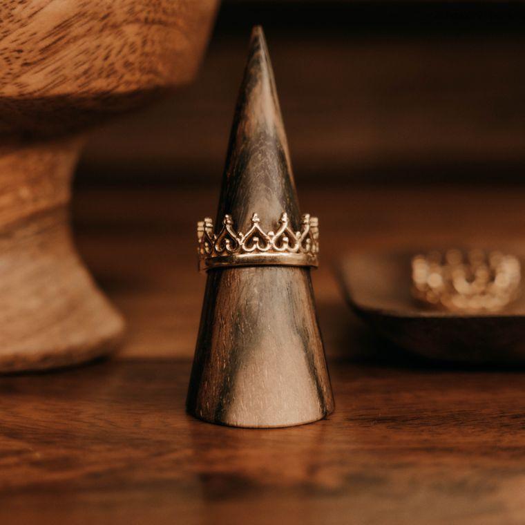 Crown Ring - Brass