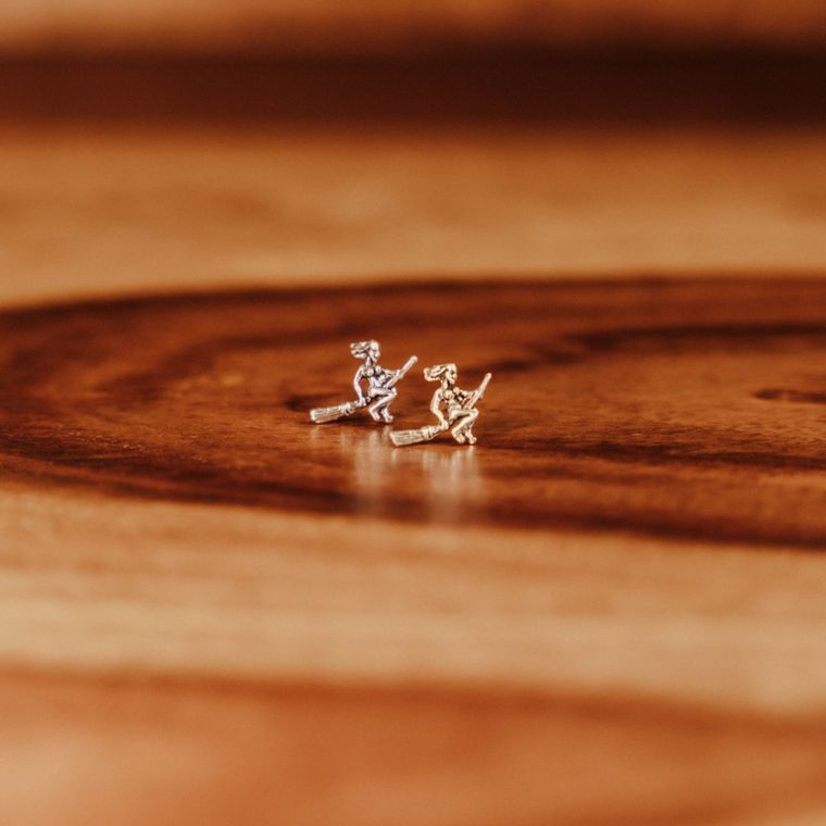 Witch Studs - Sterling Silver