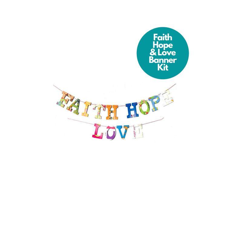 Phrase Garlands- Faith Hope Love