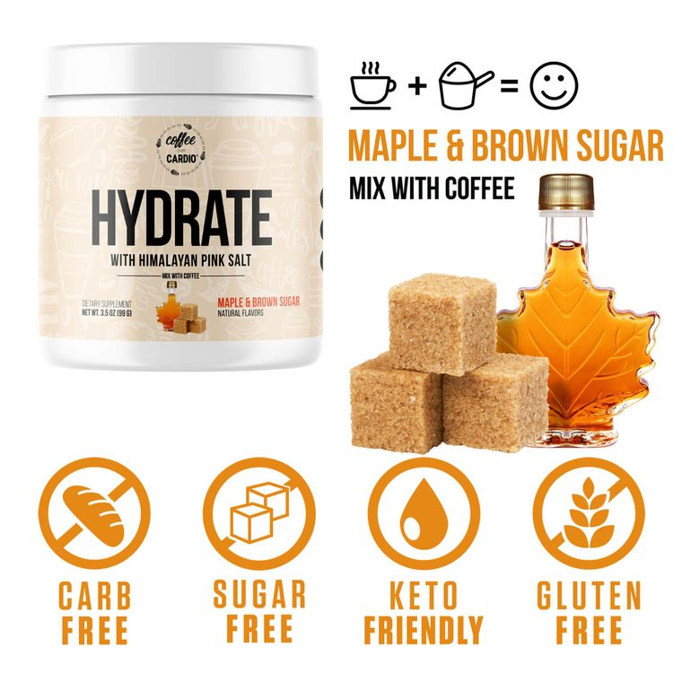 Hydrate- Electrolyte for Coffee- Maple & Brown Sugar
