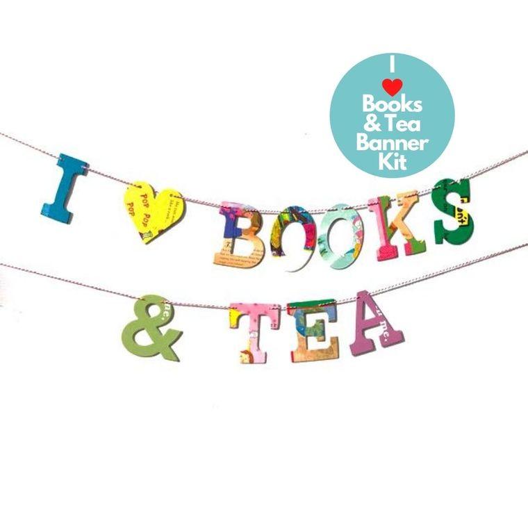 Phrase Garlands- I (HEART) Books & Tea