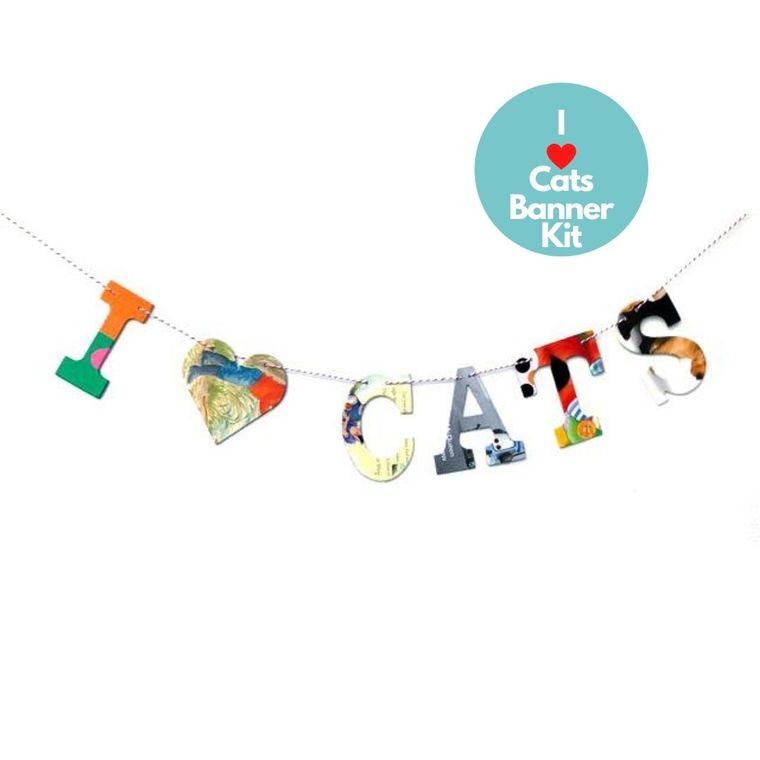 Phrase Garlands- I (HEART) CATS