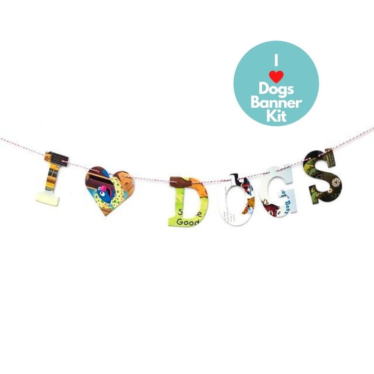 Phrase Garlands- I (HEART) Dogs