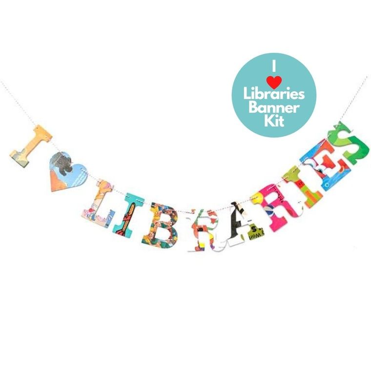 Phrase Garlands- I (HEART) Libraries