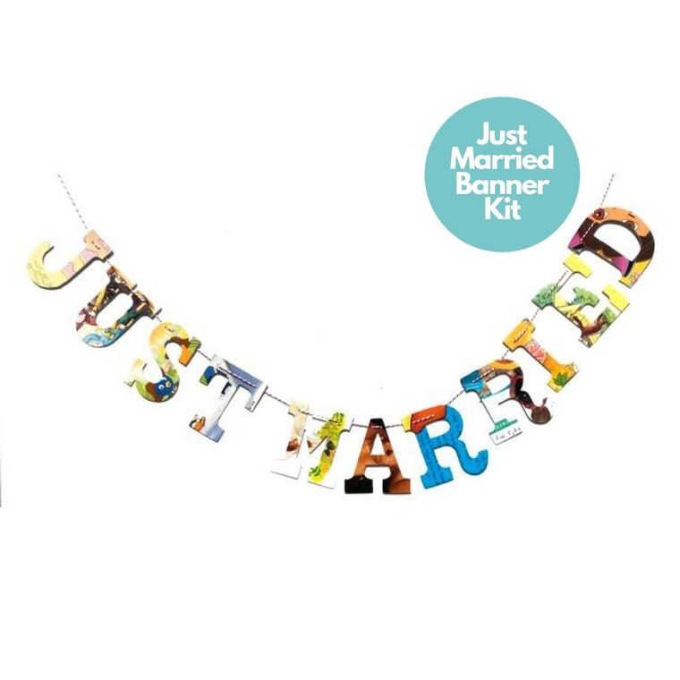 Phrase Garlands- Just Married