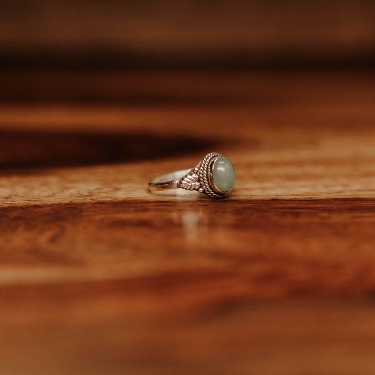 Aventurine Courtyard Ring - Sterling Silver