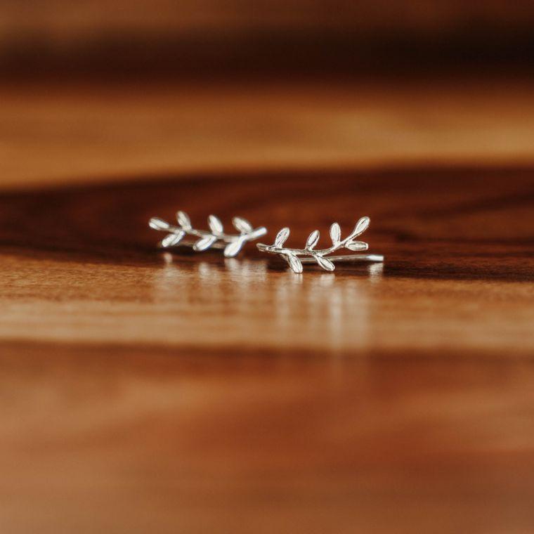 Vine Ear Climbers - Sterling Silver