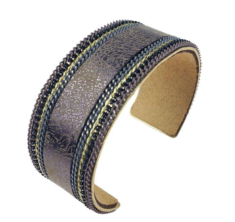 Blake - Bronze leather cuff bracelet