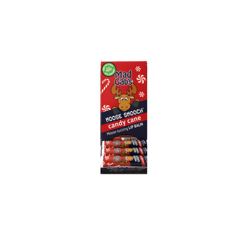 Organic Candy Cane Moose Smooch 24 Pc Display