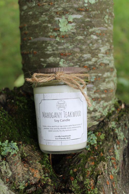 Mahogany Teakwood Soy Candle