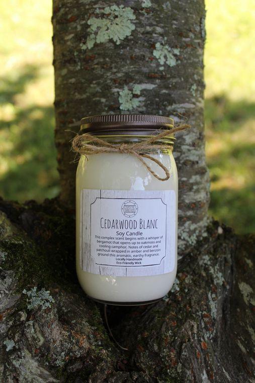 Cedarwood Blanc Soy Candle