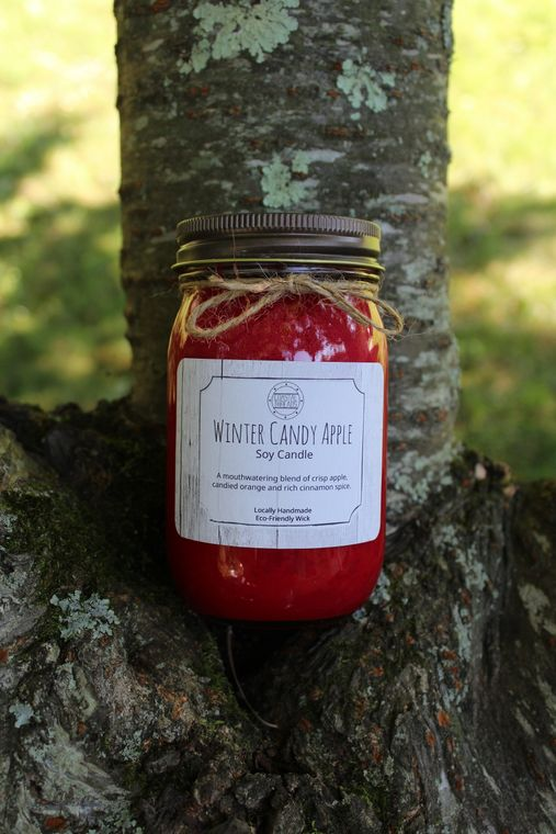 Winter Candy Apple Soy Candle