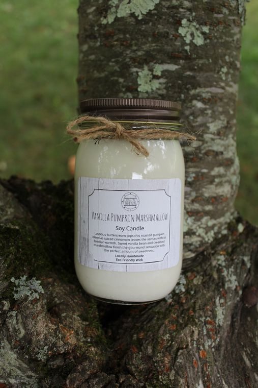 Vanilla Pumpkin Marshmallow Soy Candle