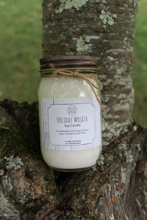 Holiday Wreath Soy Candle