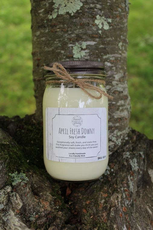 April Fresh Downy Soy Candle