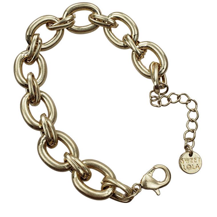 Linki -  Gold oval links bracelet