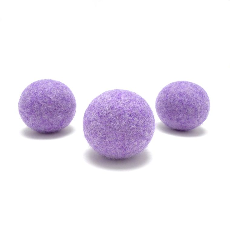Lilac Heather Wool Dryer Ball