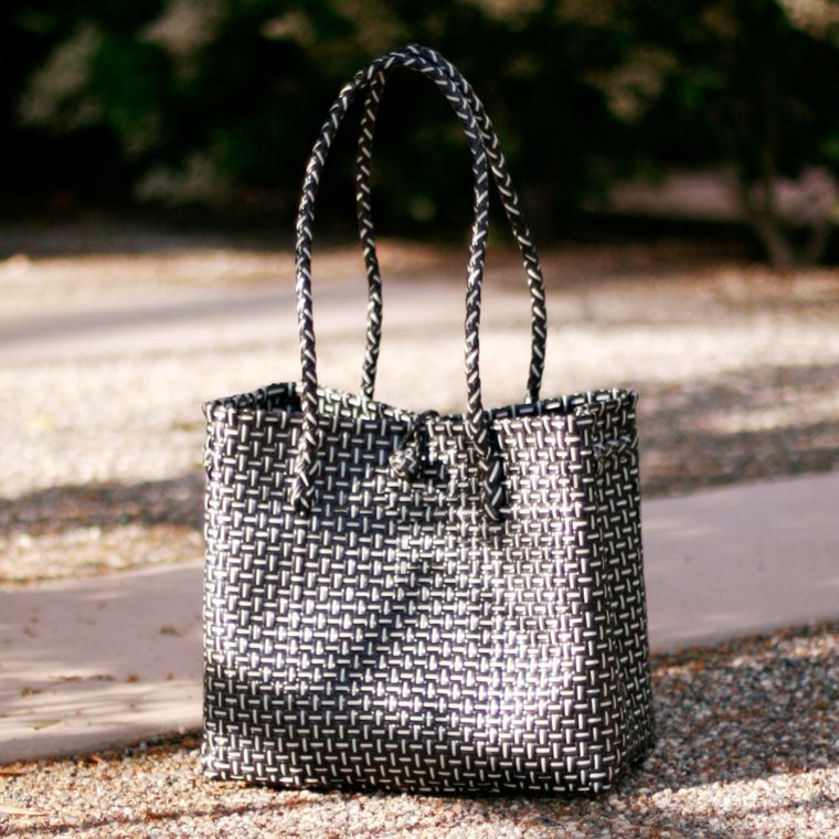 Black TOKO Bazaar Woven Beach Bag (6-9 days)