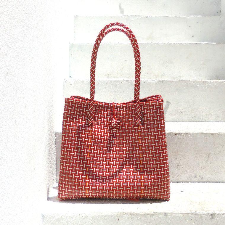 Red TOKO Bazaar Woven Beach Bag