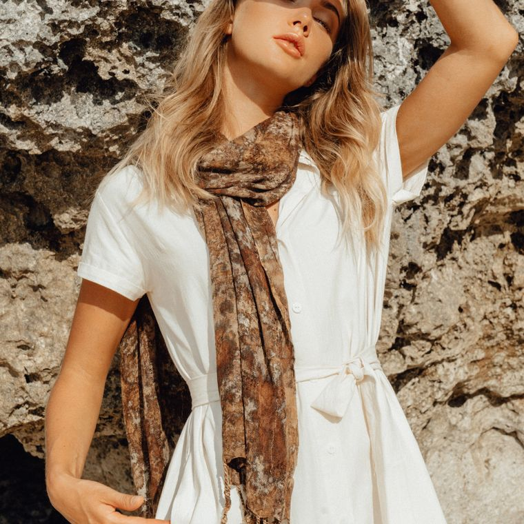 Marfa Handwoven Cotton Scarf (1-3 days)
