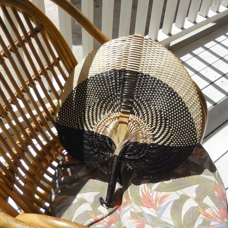 Balinese Woven Hand Fan Shiva - Large (1-3 days)