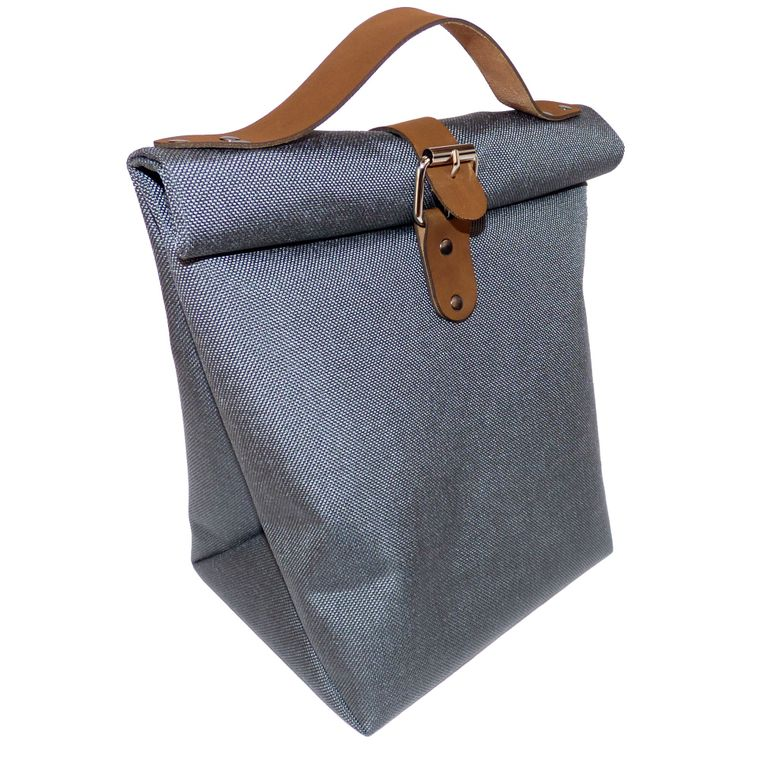 Roll Top Lunch Bag w/ Leather Straps