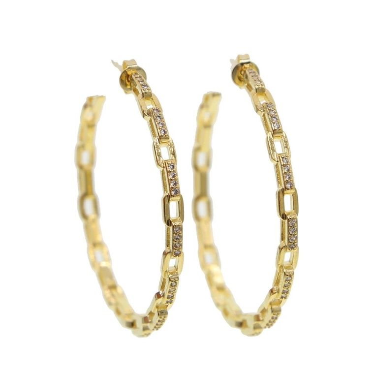 Gold Tanner Hoops