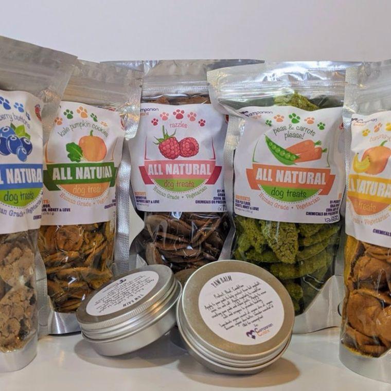 Grain Free Dog Treats and Organic Paw Balm