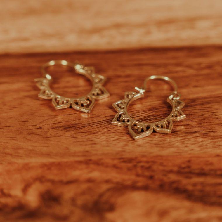 Seven Wonders Earrings - Brass